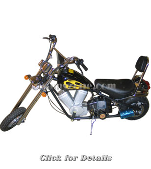 Mini Gas Powered Choppers - HappyScooters - Moped Scooters for Sale